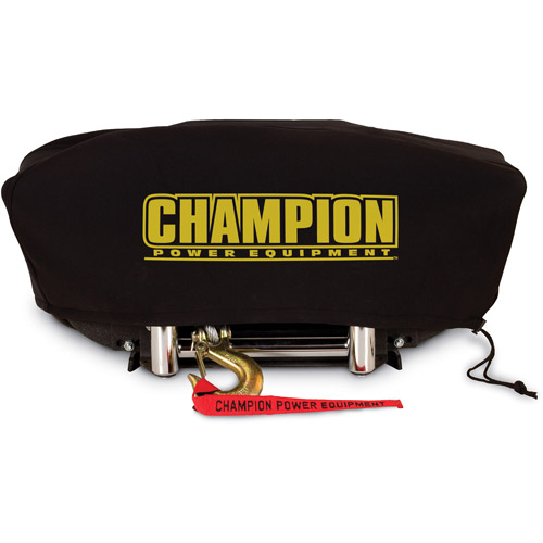 Champion 18034 Weather-Resistant Neoprene Storage Cover for Winches 8000-12,000 lb. with Speed Mount Hitch Adapter