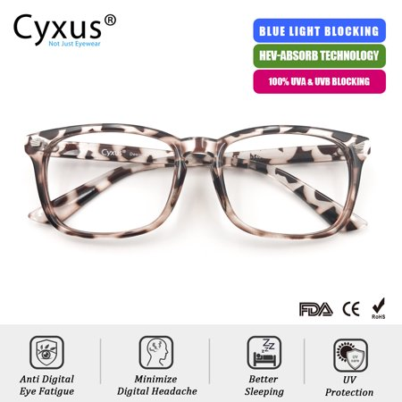 Cyxus Computer Glasses for Blocking Blue Light UV Anti Eyestrain with Leopard Pattern Frame Women/Girls