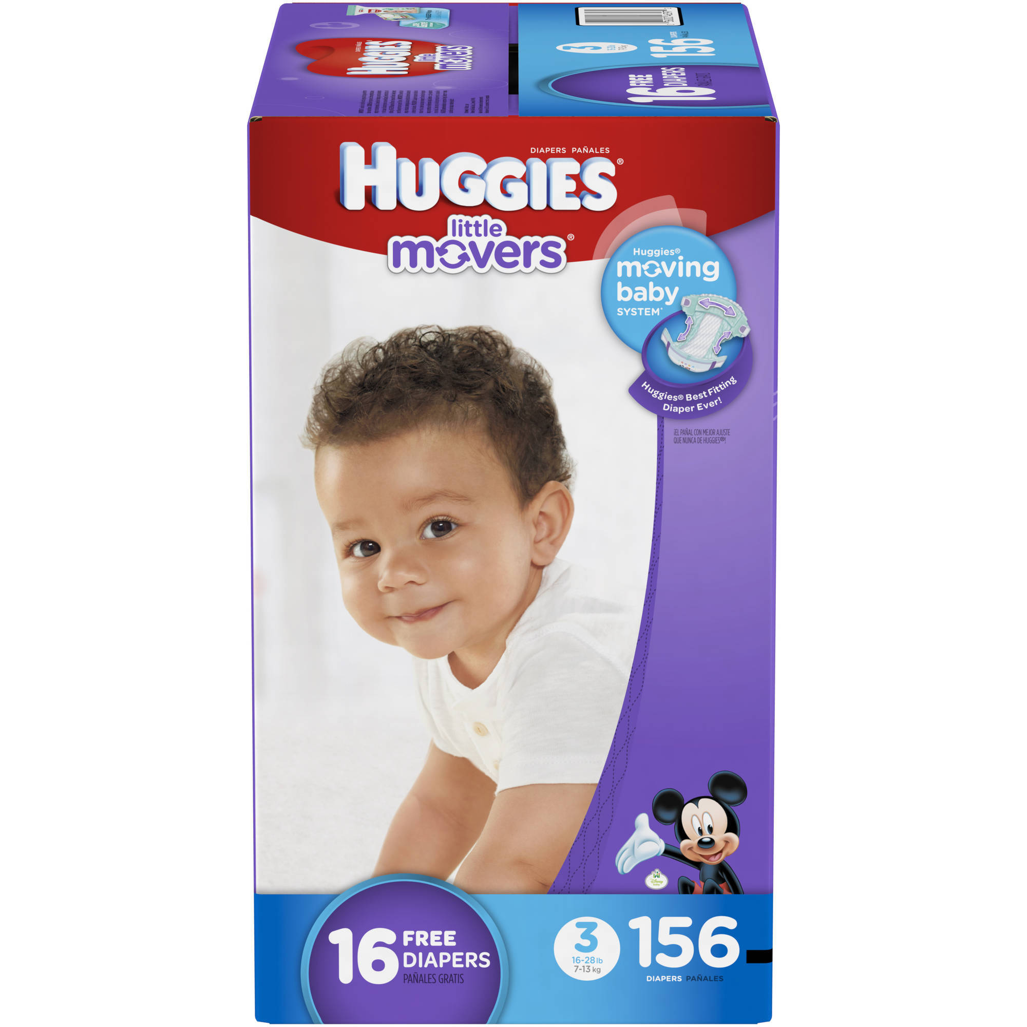 HUGGIES Little Movers Diapers, (Choose Your Size)