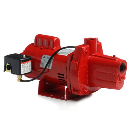 Deep Well Jet Package - Red Lion RJS-100-PREM 1HP Cast Iron Thermoplastic Shallow Well Jet Pump | 602208