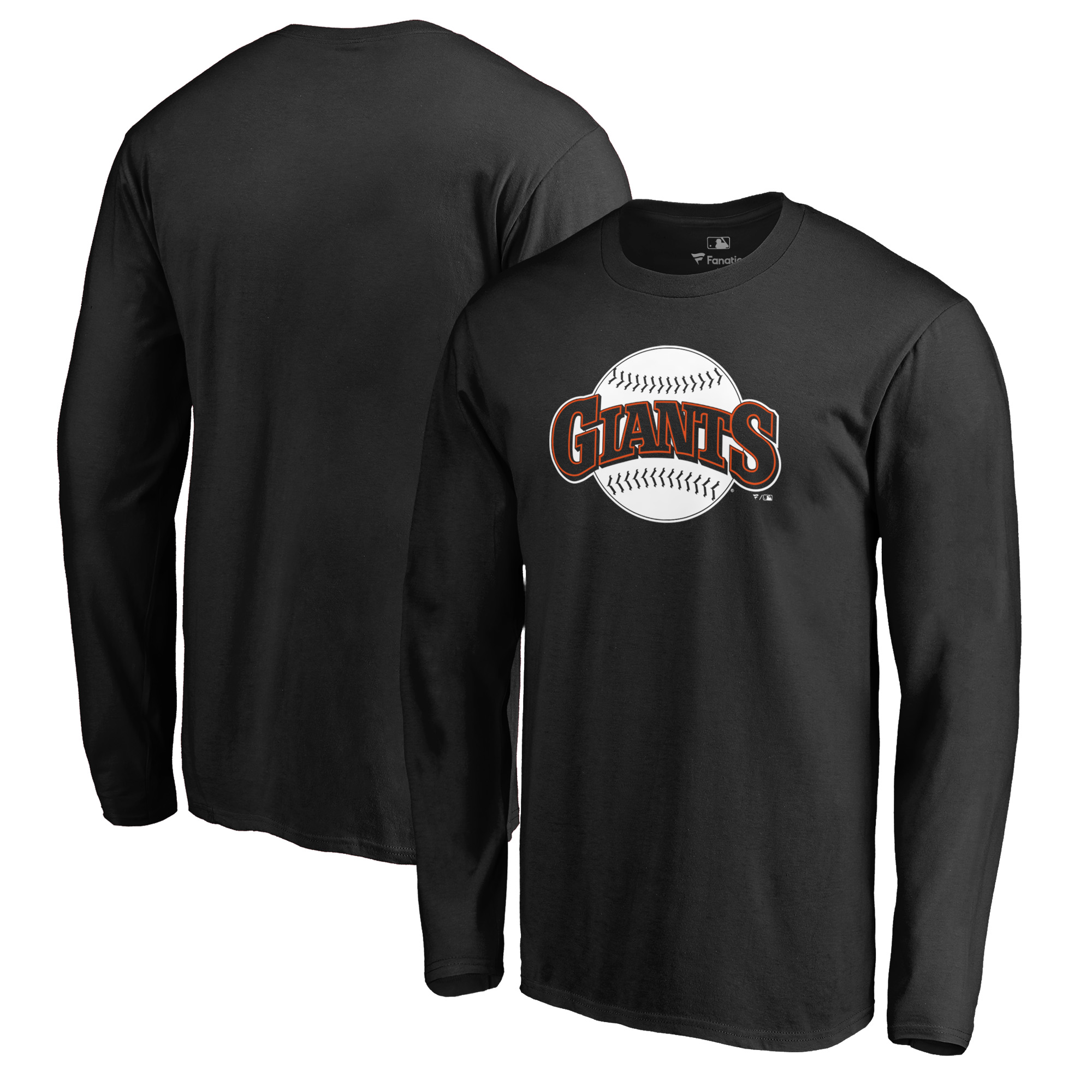San Francisco Giants Fanatics Branded Cooperstown Collection Huntington Long Sleeve T-Shirt - Black