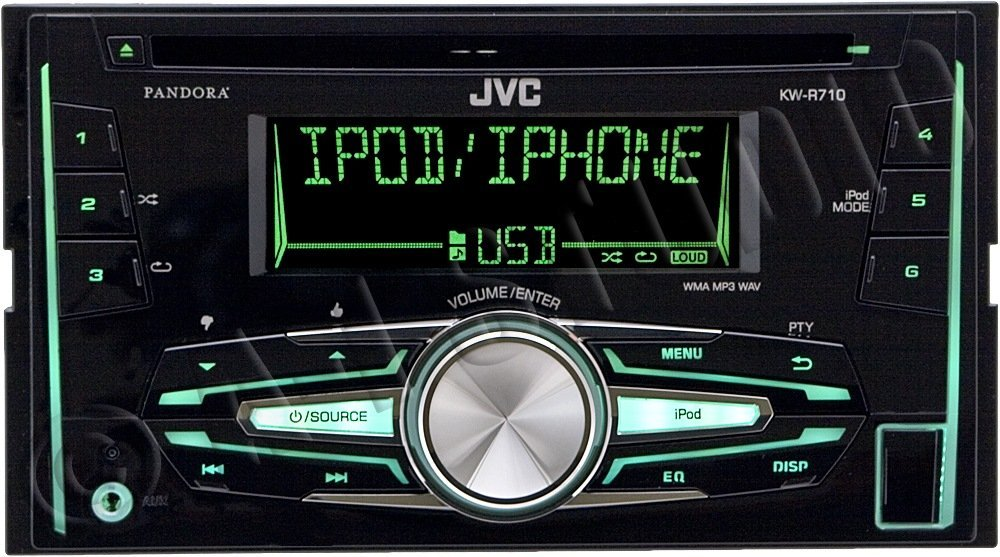 Jvc Kw-r710 Double-din In-dash Cd  Usb Receiver