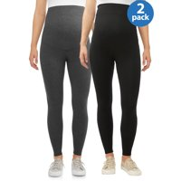 Maternity Oh! Mamma Leggings with Full Panel, 2 Pack