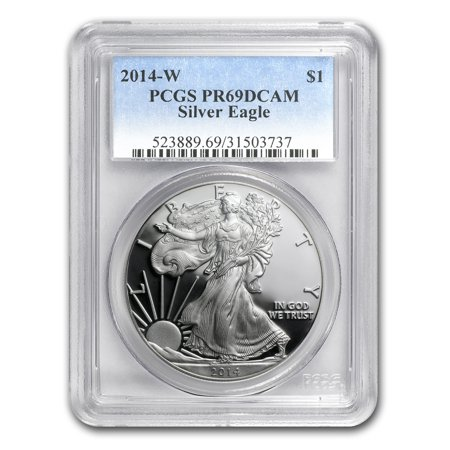 Silver Eagle Pcgs Gem (2014-W Proof Silver American Eagle PR-69 PCGS)