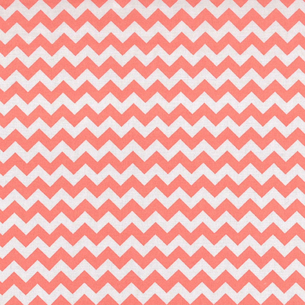 Coral Chevron Fitted Crib Sheet