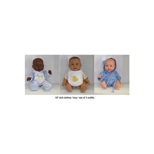 Get Ready Kids Doll Clothes Boy Outfits (Set of 3)