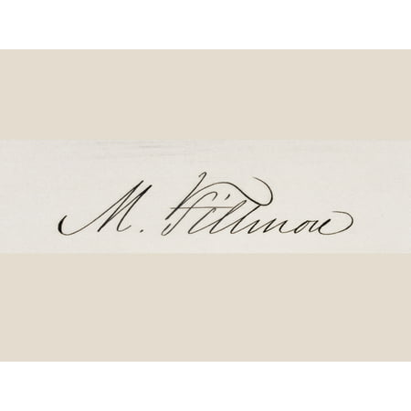 Signature Of Millard Fillmore 1800 To 1874 13Th President Of The United States 1850 To 1853 Canvas Art - Ken Welsh  Design Pics (16 x (13th President Of The United States Of America)