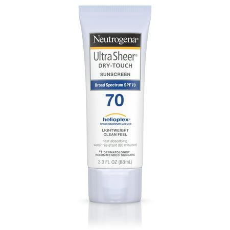 Neutrogena Ultra Sheer Dry Touch Sunscreen  Broad Spectrum Spf 70  3 Oz