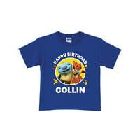Personalized Wallykazam Happy Birthday Kids' Royal Blue T-Shirt