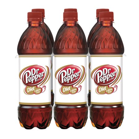 Caffeine Free Diet Dr Pepper, 24 fl oz bottles, 6 pack