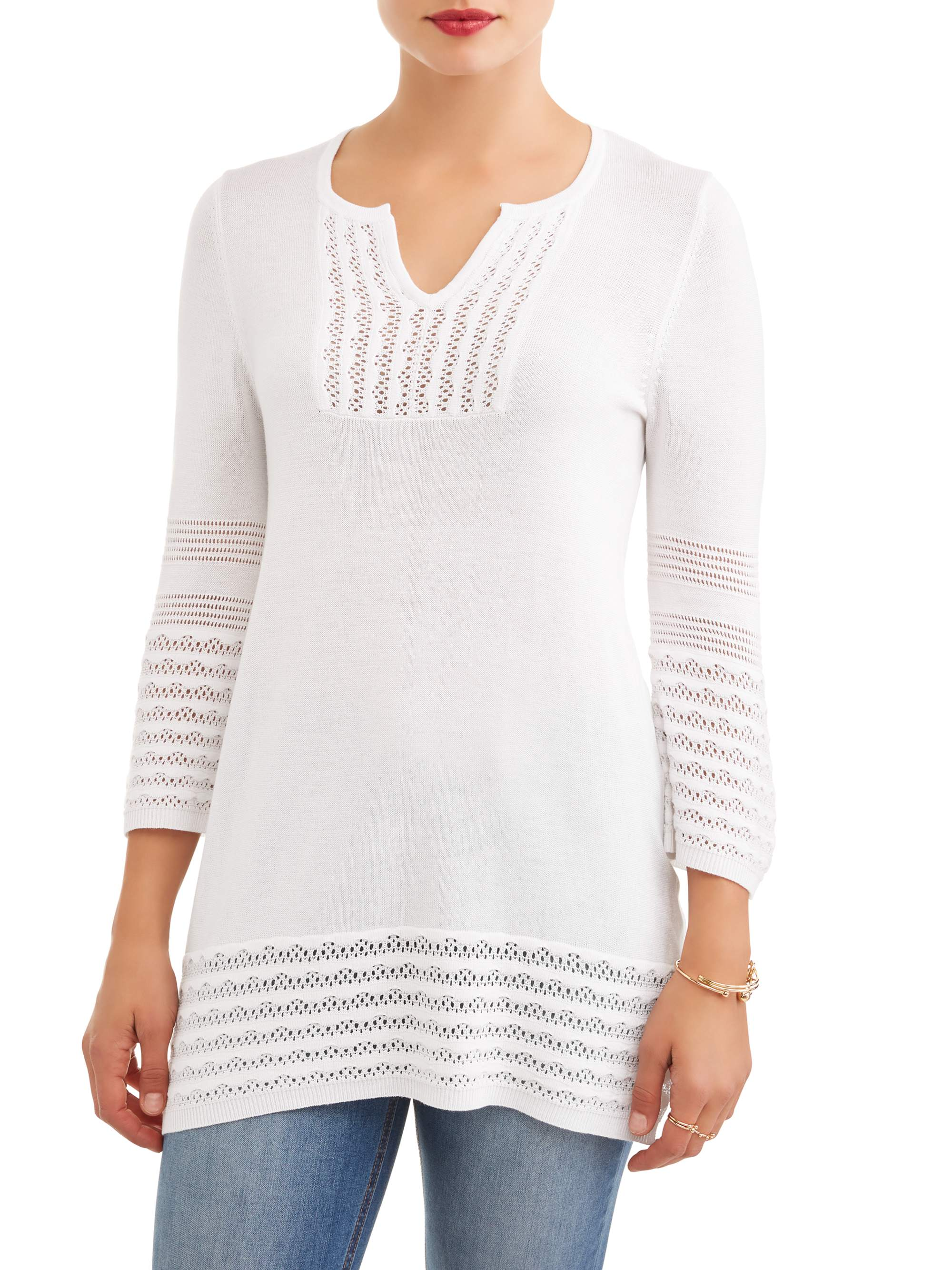 Women's Crochet Trim Tunic