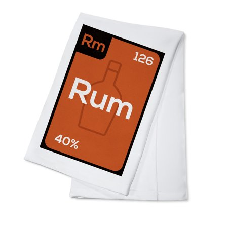 Periodic Drinks - Rum - Lantern Press Artwork (100% Cotton Kitchen Towel)