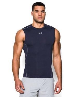 Under Armour 1257469 Men's Navy UA HeatGear Sleeveless Compression Shirt Small