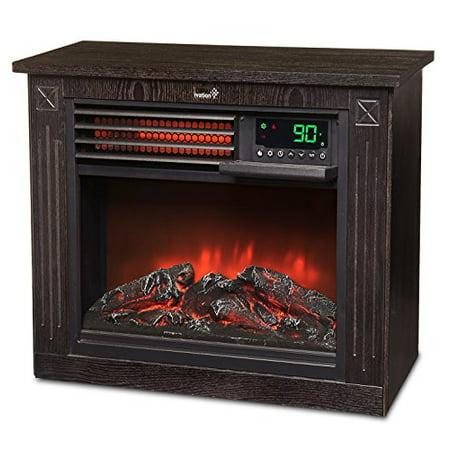ivation 5 100 btu infrared quartz fireplace 1500w electric. Black Bedroom Furniture Sets. Home Design Ideas