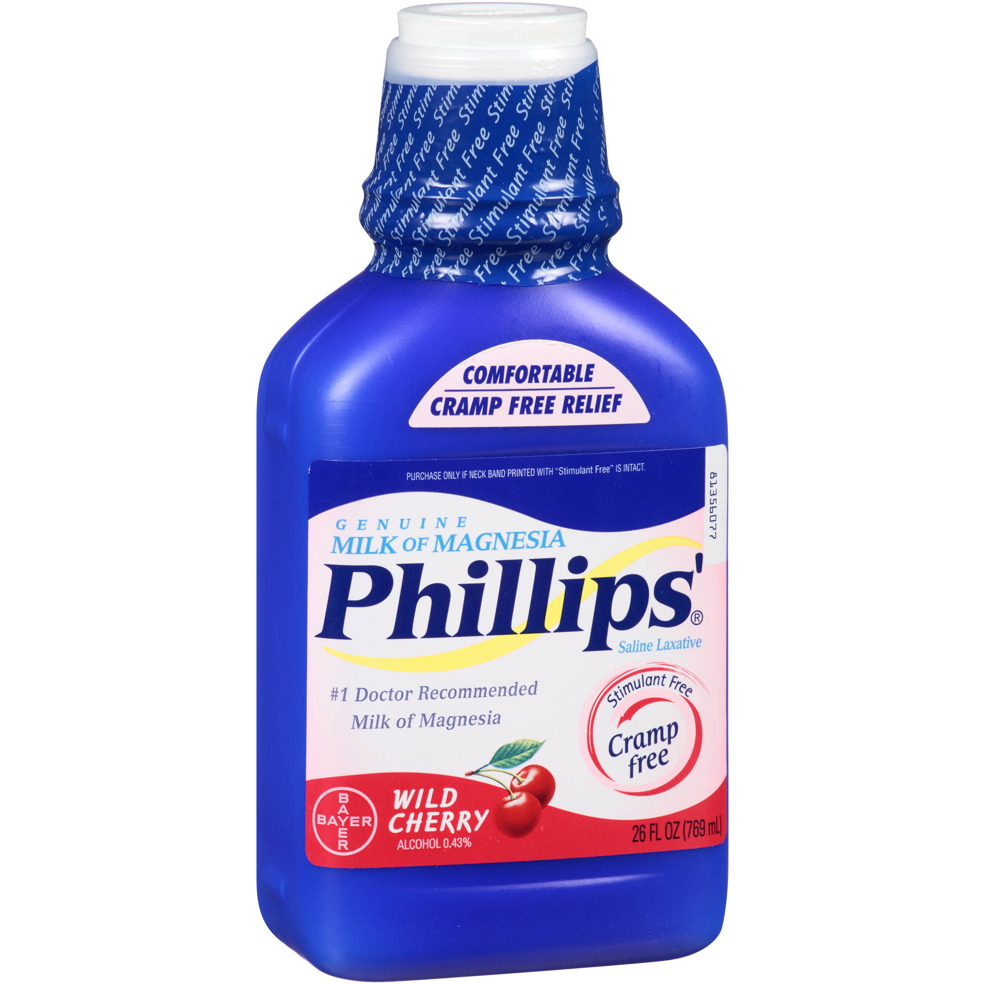 Phillips' Genuine Milk of Magnesia Wild Cherry Saline Laxative Liquid, 26 fl oz