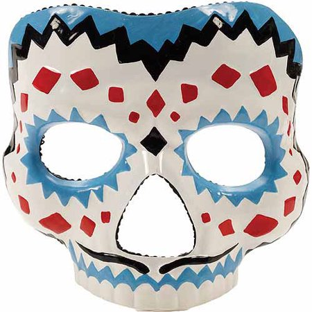 Day of the Dead Male Mask Adult Halloween Accessory - Day Of The Dead Male