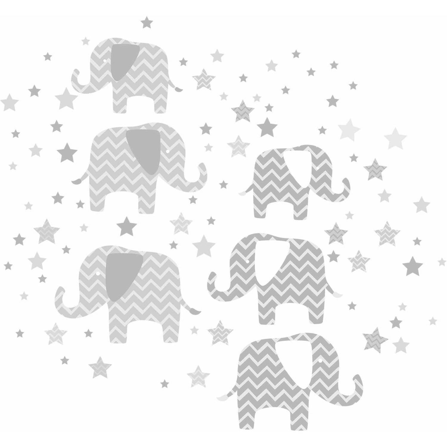 "Wall Pops Elephants ""A Ton Of Love"" Wall Art Kit"