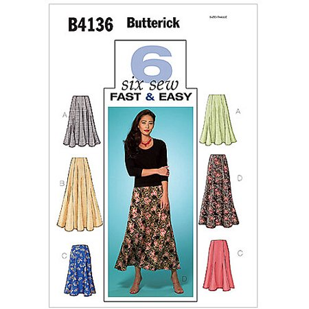 - Butterick Pattern Misses' and Misses' Petite Skirt, (8, 10, 12)