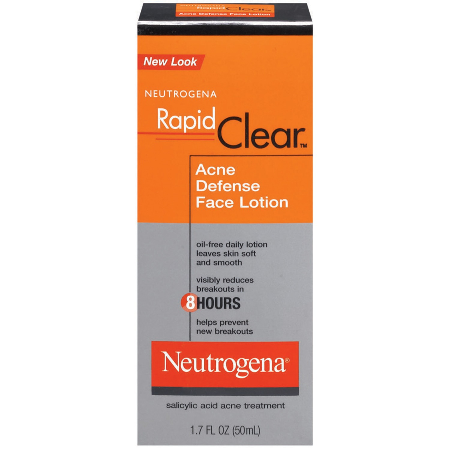Neutrogena Rapid Clear Acne Defense Face Lotion, 1.7 Fl. Oz