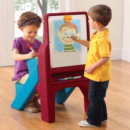 Step2 Art Easel Desk, Dry erase board includes clip to hang paper for other projects