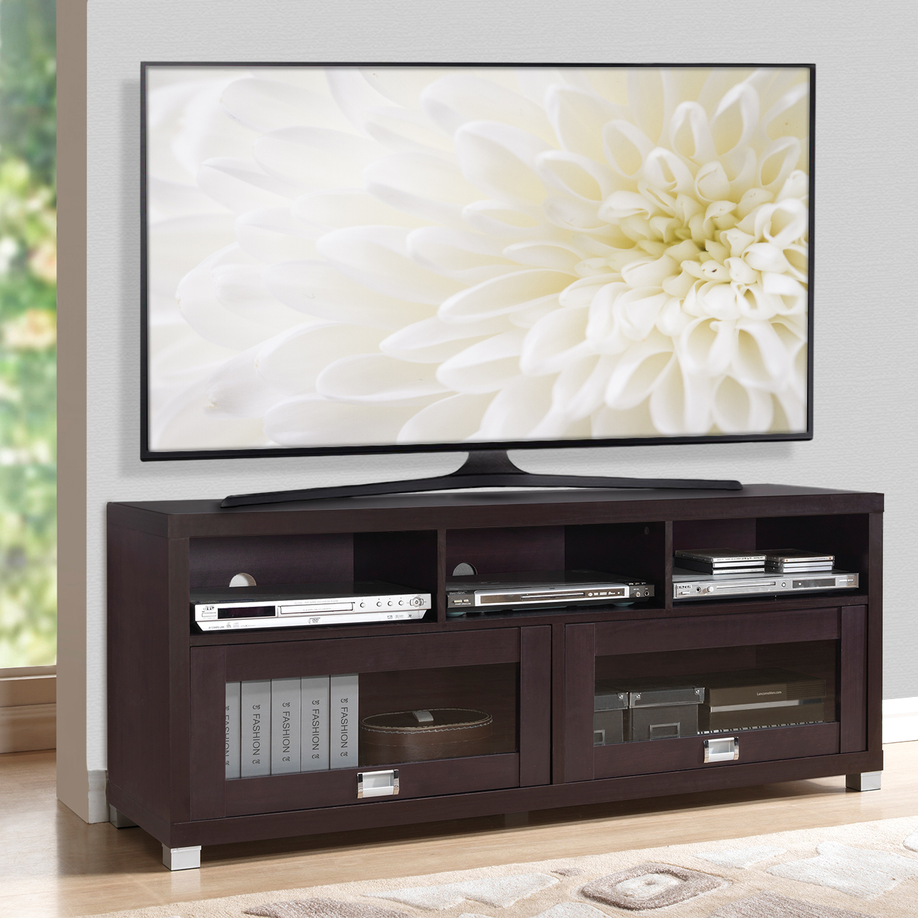 Modern Tv Stand 75 Flat Screen Console Large Storage Entertainment