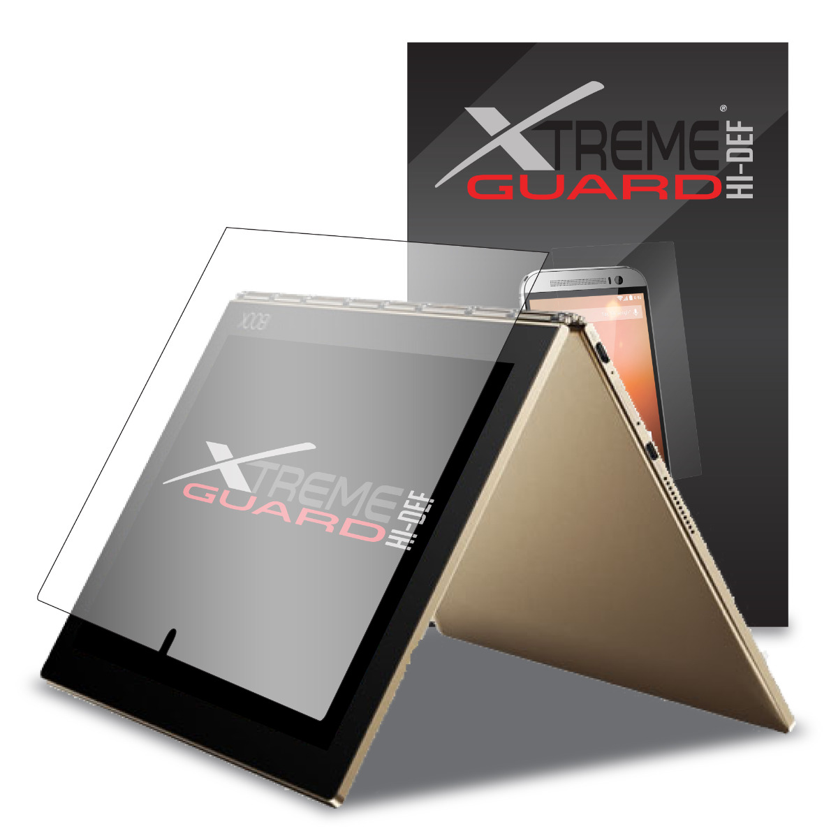 XShields© High Definition (HD+) Screen Protectors for Lenovo Yoga Book 10.1 (Maximum Clarity) Super Easy Installation [4-Pack] Lifetime Warranty, Advanced Touchscreen Accuracy
