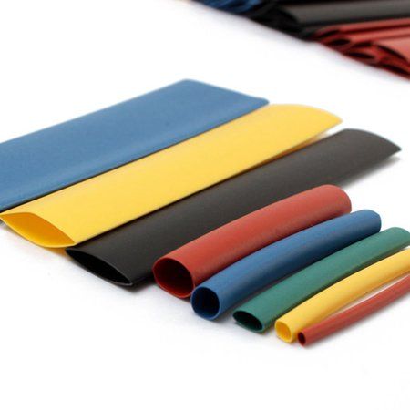 328pcs 8 Size 5 Color Assortment Ratio 2:1 Heat Shrink Tube Sleeve Wrap Wire Assorted Kit Halogen-Free  - image 4 of 5