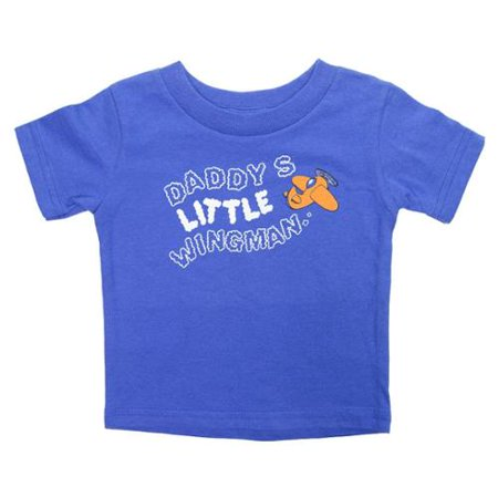 Daddys Little Wingman Funny Baby Boys Graphic T-Shirts Toddler Infant