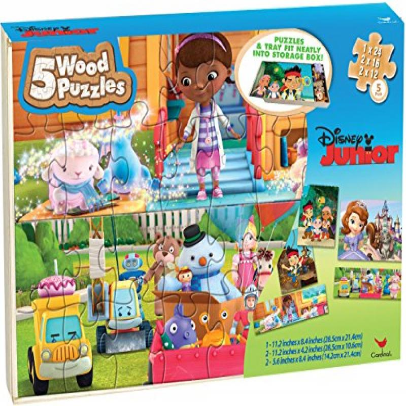 Disney Junior Puzzle Set in Storage Box- Sofia the First,...