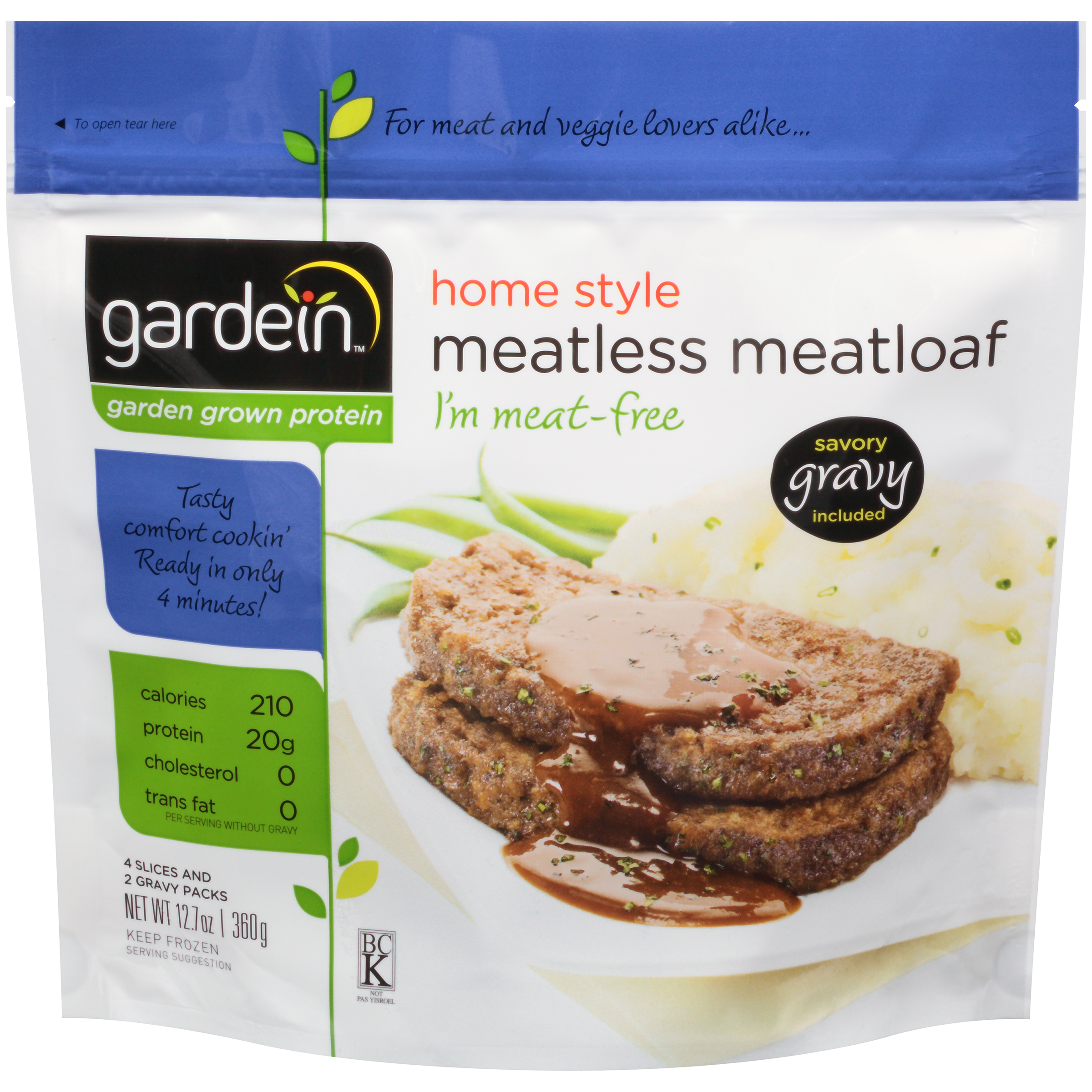 Gardein™ Home Style Meatless Meatloaf 4 ct Bag