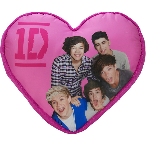 One Direction Leopard Heart Pillow
