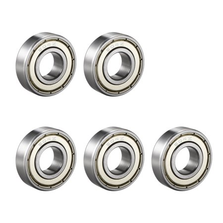 Deep Groove Ball Bearing 604Z Single Shield 4mmx12mmx4mm Chrome Steel 5pcs - image 4 of 4