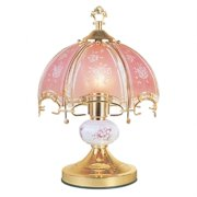 Ore International K312 14.25in. Touch Lamp  -  Floral