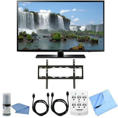 samsung un65j6200 65 inch full hd 1080p 120hz smart led hdtv flat mount bundle un65j6200 65. Black Bedroom Furniture Sets. Home Design Ideas