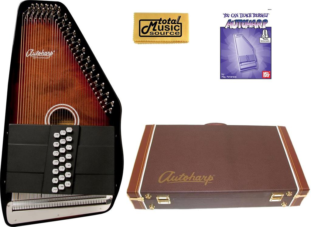 Oscar Schmidt 21 Chord 11 Key A E Autoharp, Select Maple, OS21CE w Hard Case, OS21CE... by Oscar Schmidt