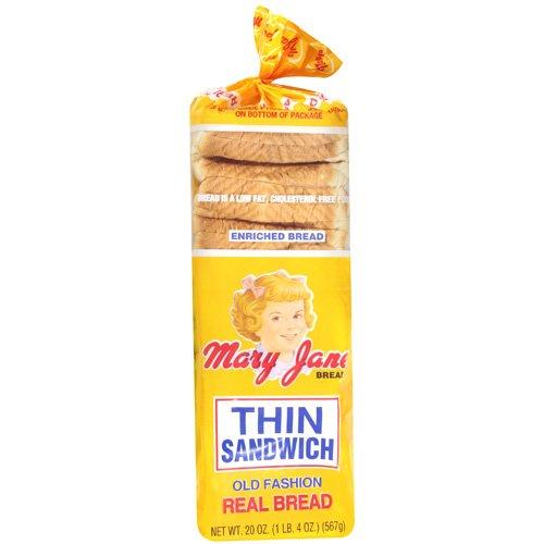 Mary Jane Thin Sandwich Bread, 20 Oz