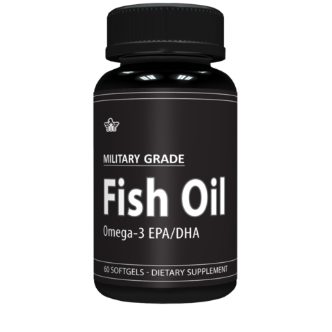 Military Grade Omega 3 Fish Oil - General Health Supplement - 1,000 mg of Fish Oil per Serving (120 Softgels)