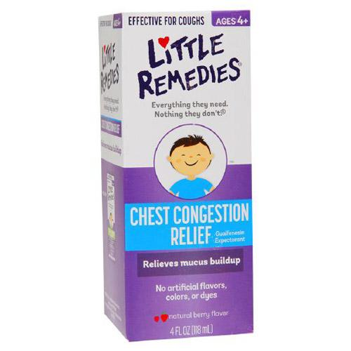 Little Remedies Chest Congestion Relief,natural berry flavor, 4 Fluid Ounce