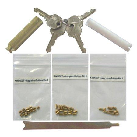 Kwikset Rekey Pin Kit 4 keys 8 locks 5 pin keyway