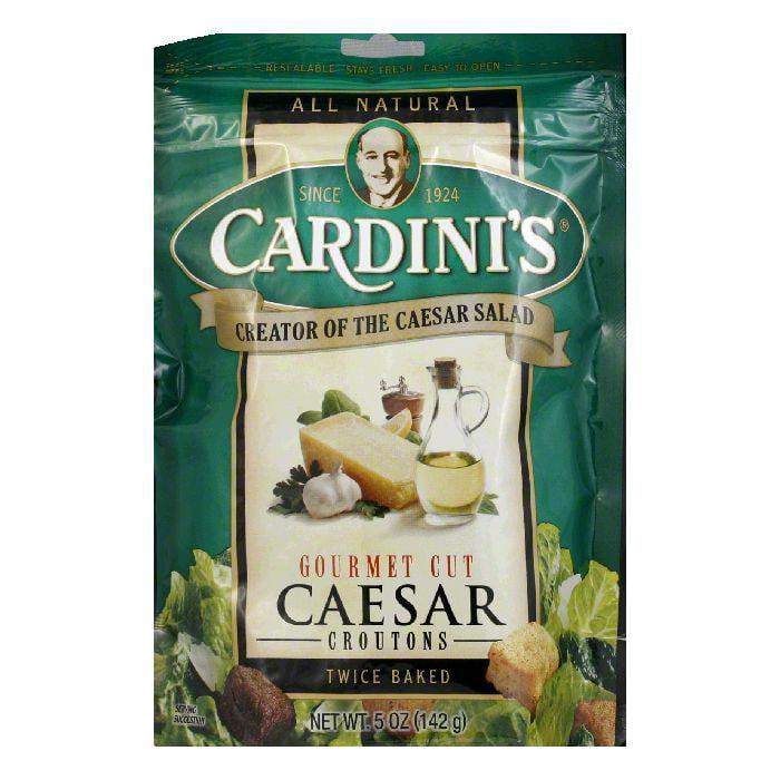 Cardini Croutons Caesar Gourmet Cut, 5 OZ (Pack of 12)