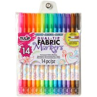Tulip Dual-Tip Fabric Marker Set 14pc-Assorted Colors