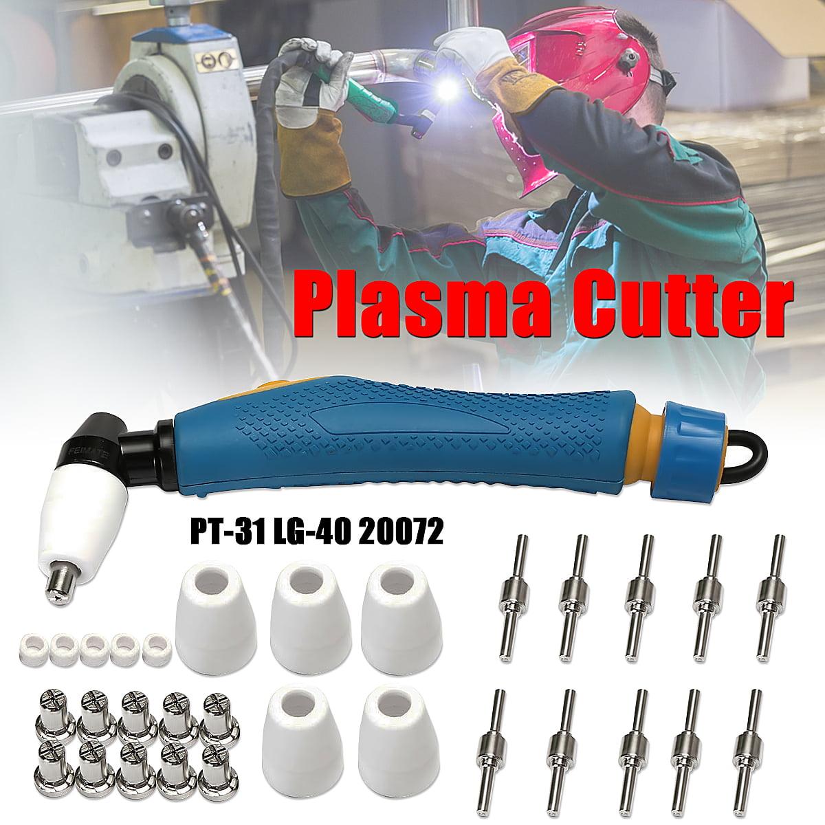 30Pcs PT-31 LG-40 20072 Air Plasma Cutter Cuttting Torch Head Body & Electrode Tip Nozzle US