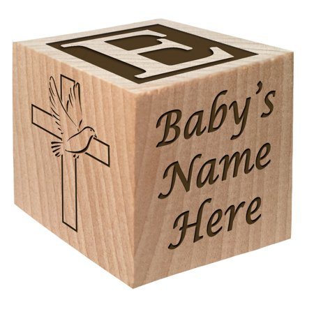 e45eec625feb2 Baptism Gift - Christening Gift - Personalized Baby Block Baptizm Gift  Custom Engraved Wooden Baby Block for Boy & for Girl keepsake from  godparent ...