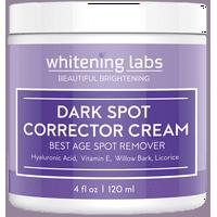 Dark Spot Corrector Cream. Best Dark Age Spot Correcting for Face, Hands, Neck, Body 4 oz