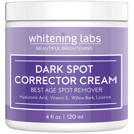 Dark Spot Corrector Cream. Best Dark Age Spot Correcting for Face, Hands, Neck, Body 4 oz ()