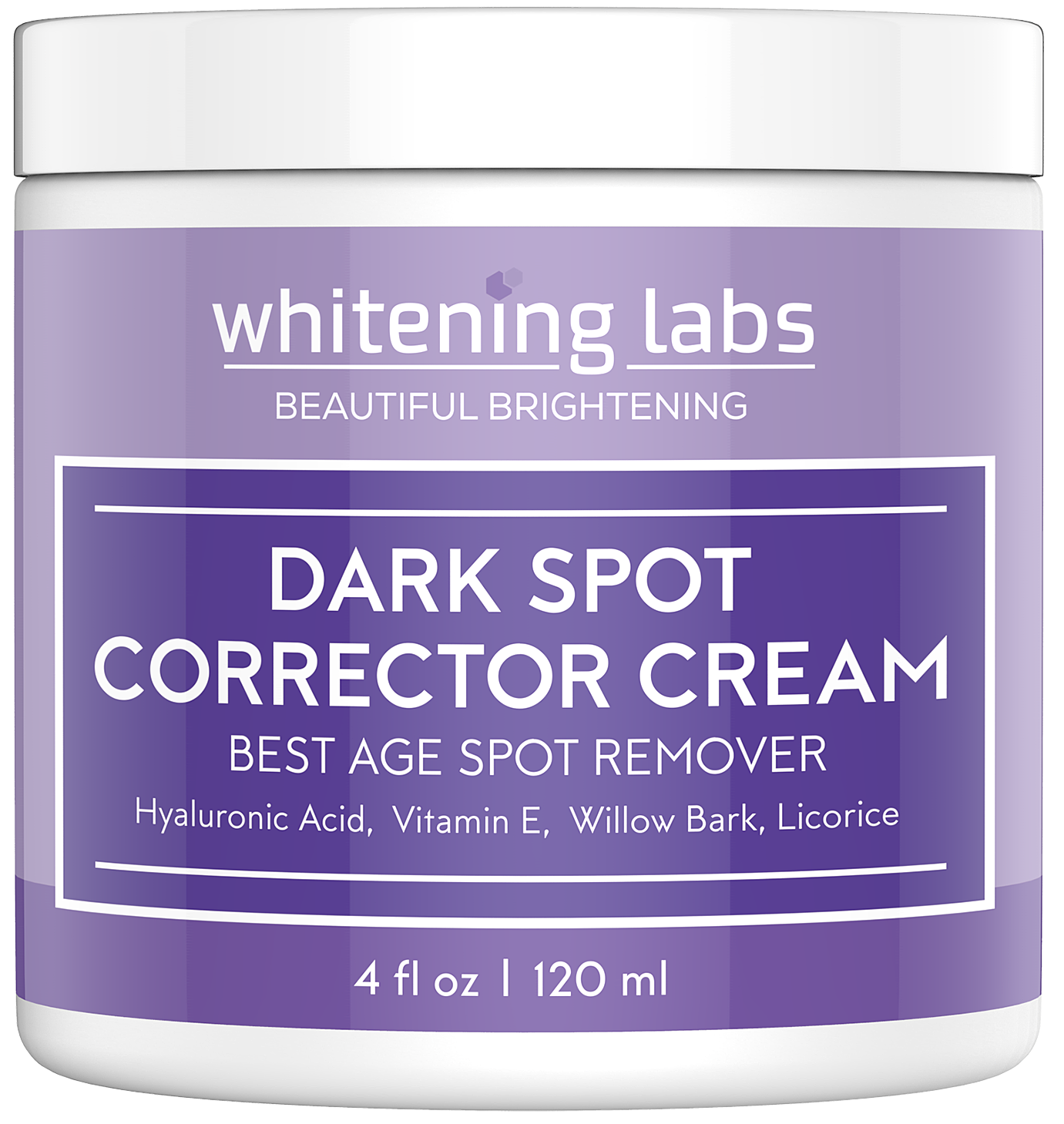 Dark Spot Corrector Cream. Best Dark Age Spot Correcting for Face, Hands, Neck, Body 4 oz