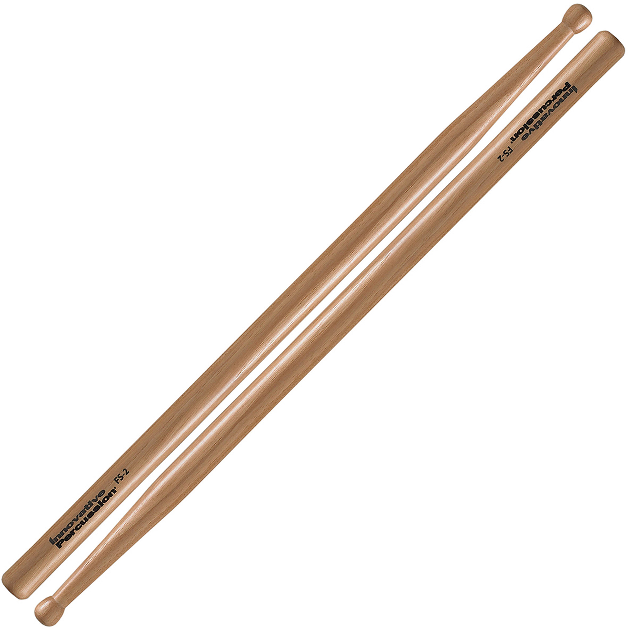 Innovative Percussion FS2 Marching Snare Field Series Standard Wood Tip Drumsticks with Short Taper