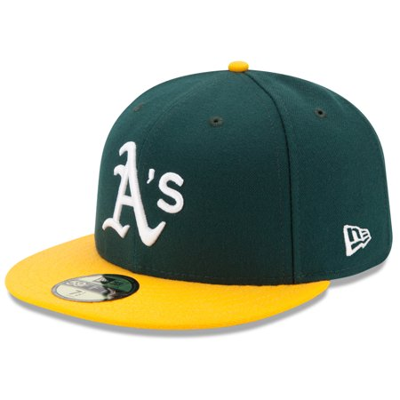 Oakland Athletics New Era Home Authentic Collection On-Field 59FIFTY Fitted Hat - Green/Yellow