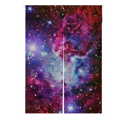 Dior Star - GCKG Galaxy Japanese Noren Curtain,Galaxy Space,Universe Stars Doorway Curtain Door Curtain Entrance Curtain Cotton Linen Curtain Size 85x120cm