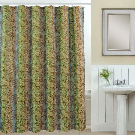 luxury home wildlife 13 piece printed shower curtain set